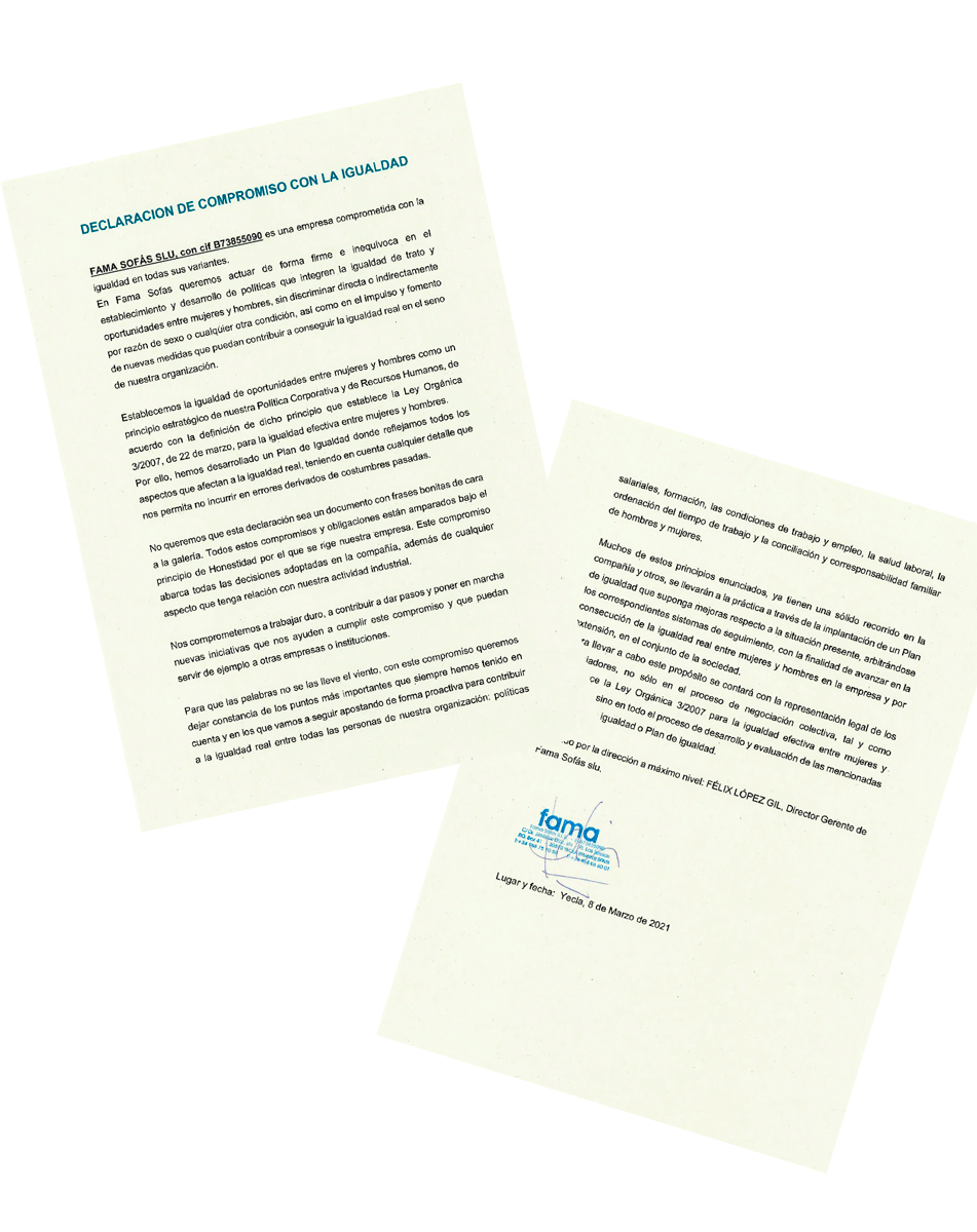 DECLARACION DE COMPROMISO CON LA IGUALDAD