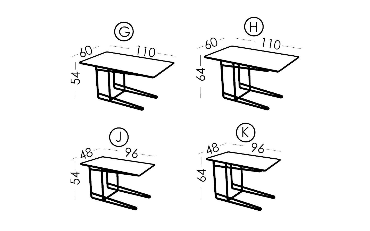 Croquis mesa encastrable Klee
