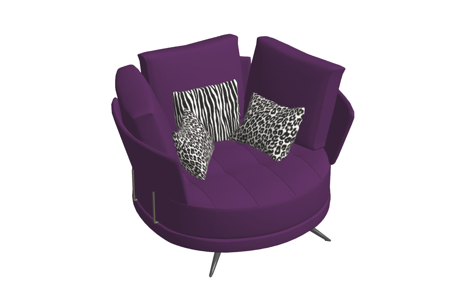 Pacific armchair Fama - 2D