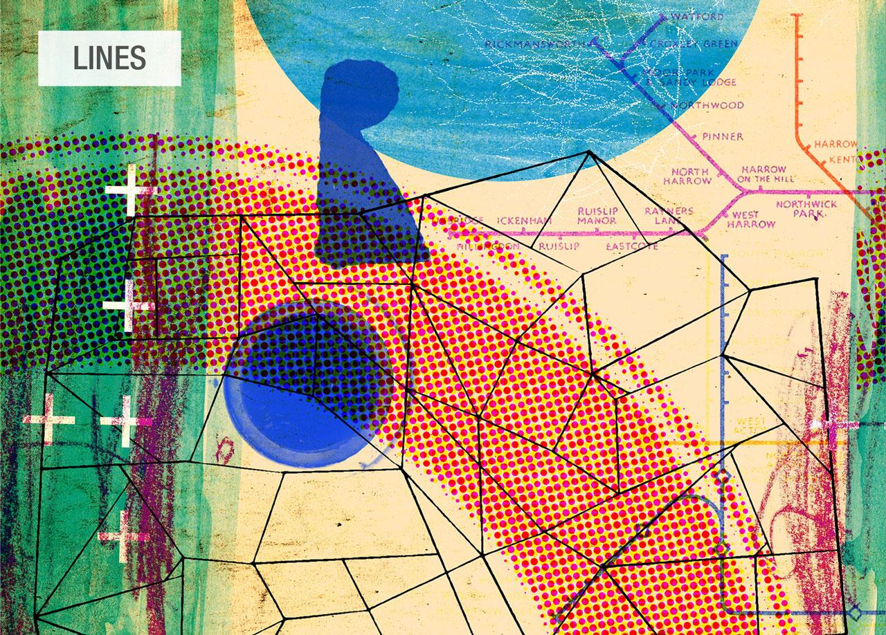 dibujo Lines wander tela Fama 2020