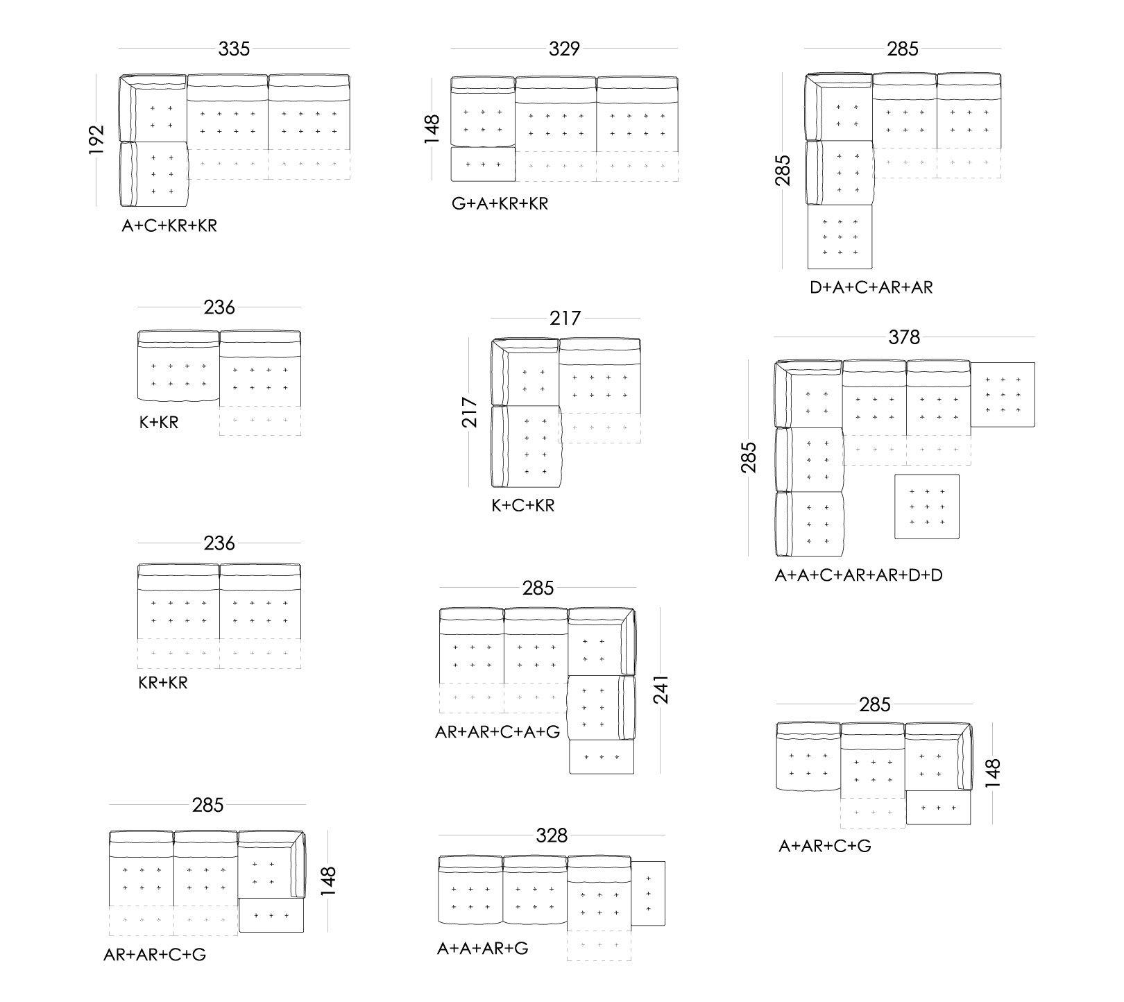 Urban medidas composiciones