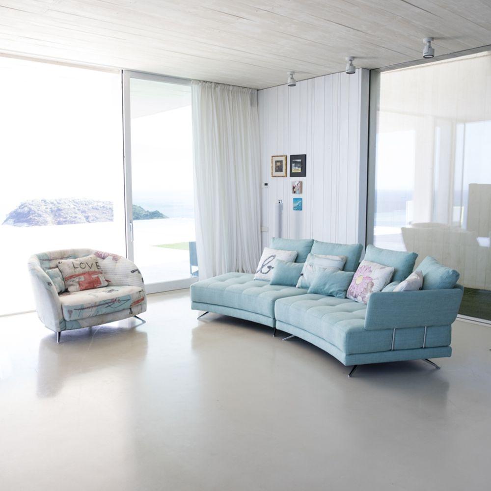 Tonalidades azules sofas y sillones Fama 26