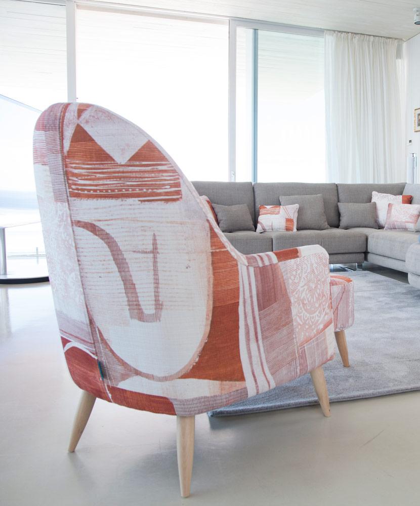 Tonalidades naranjas sofas y sillones Fama 10