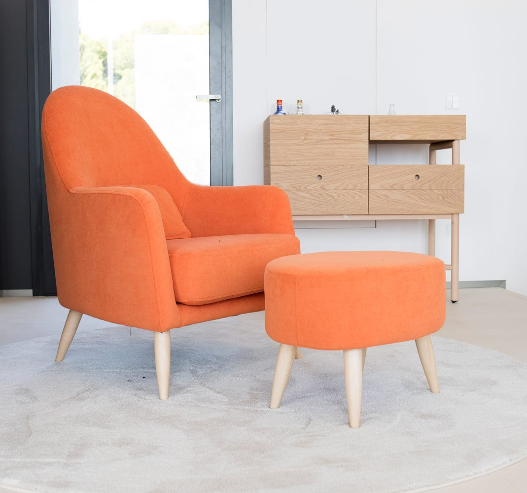 Tonalidades naranjas sofas y sillones Fama 11