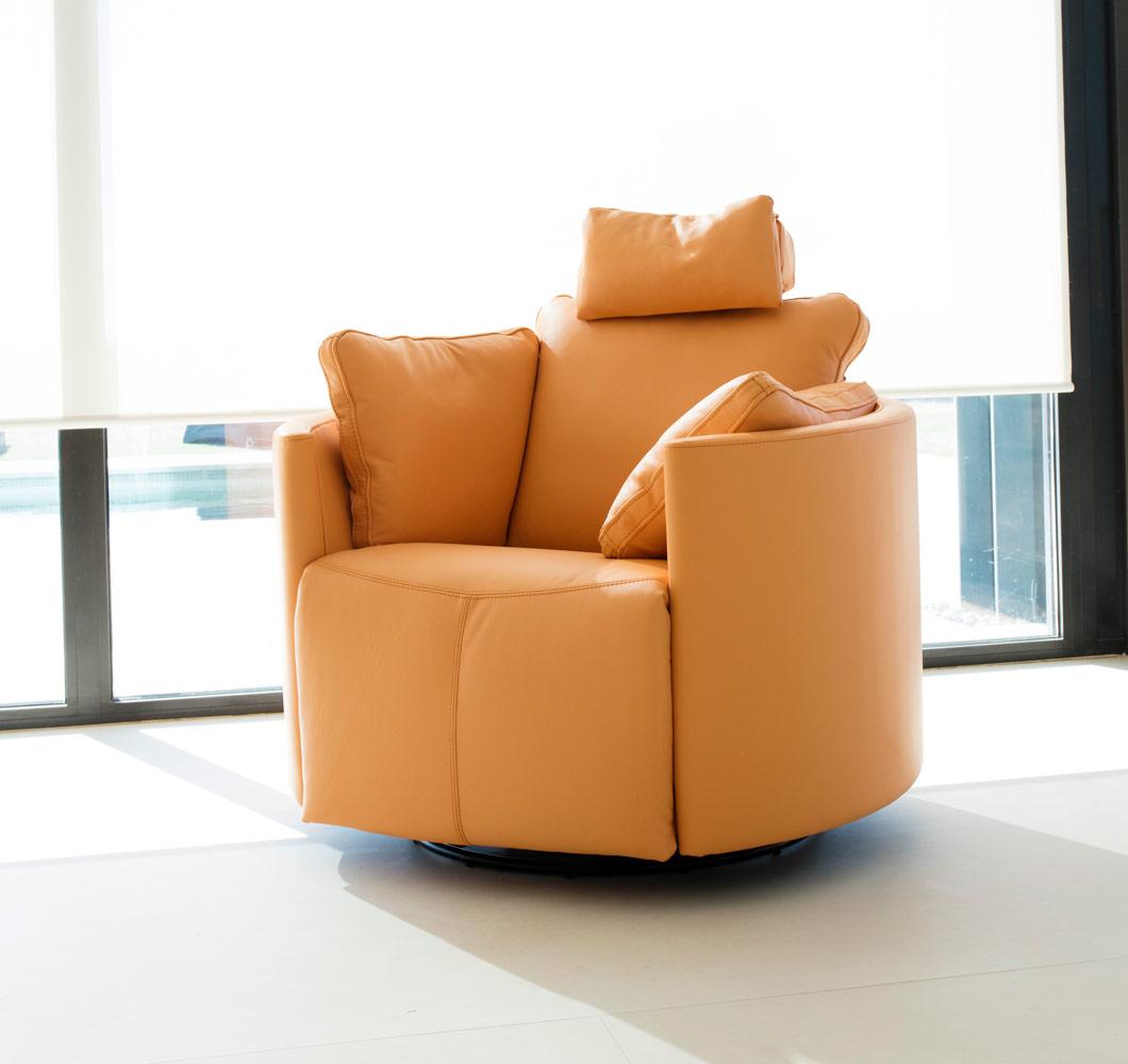 Tonalidades naranjas sofas y sillones Fama 12