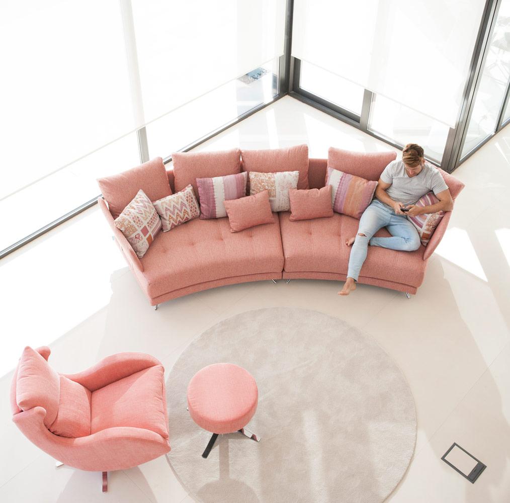 Tonalidades naranjas sofas y sillones Fama 14