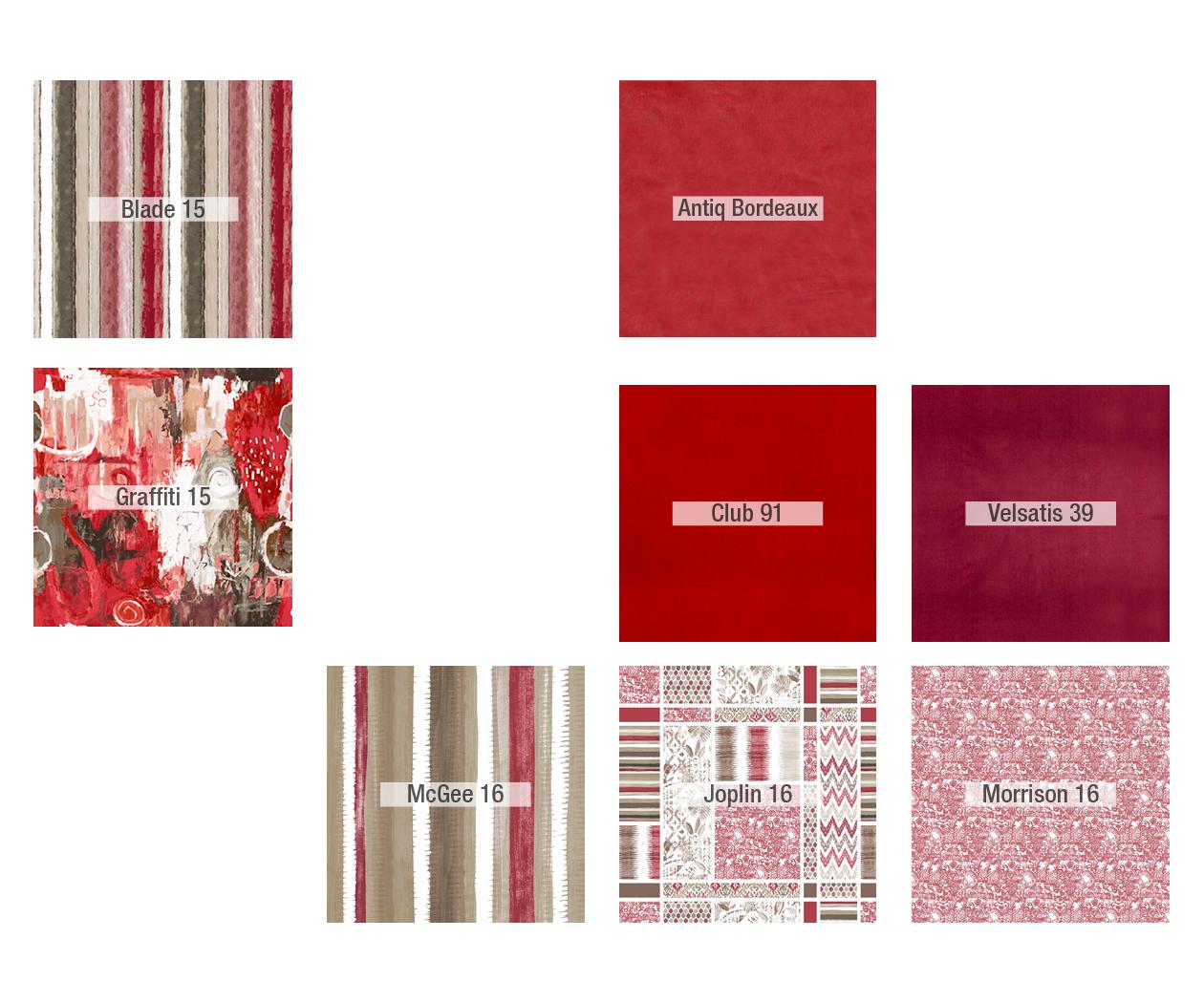 Tonalidades rojo sofas y sillones Fama 01
