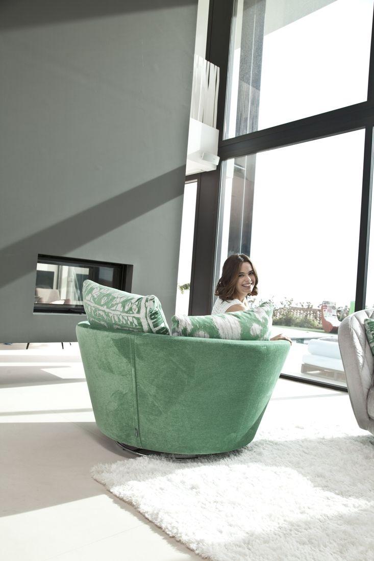 Tonalidades verdes sofas y sillones Fama 13