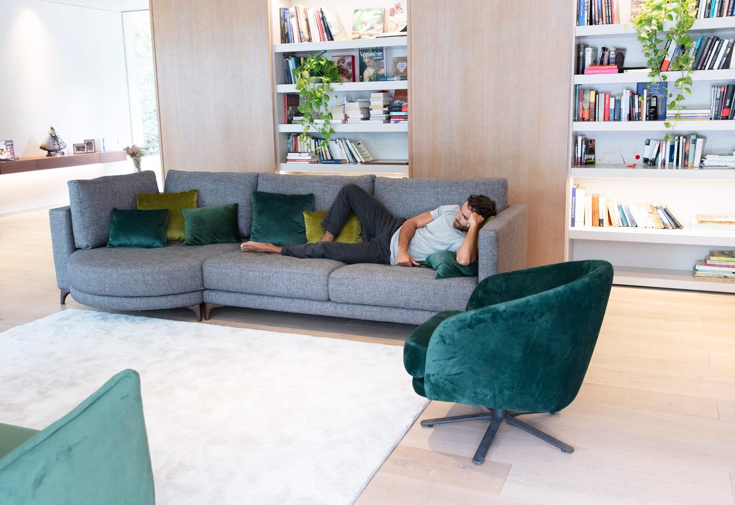 Tonalidades verdes sofas y sillones Fama 08
