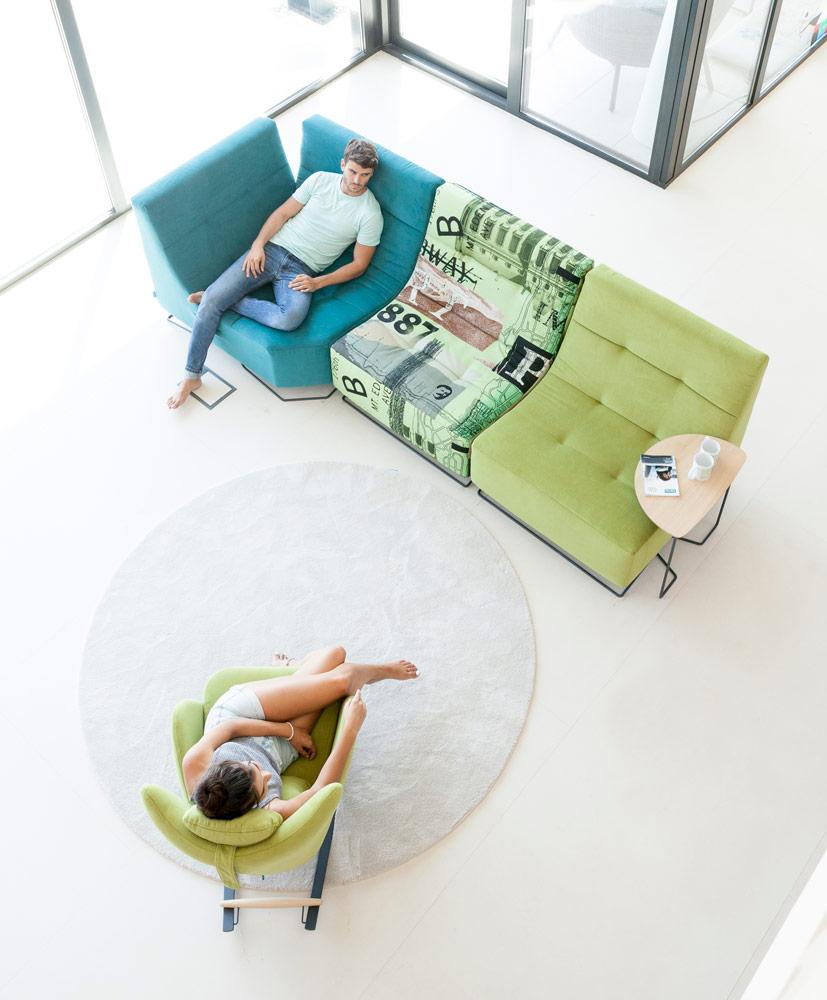 Tonalidades verdes sofas y sillones Fama 15