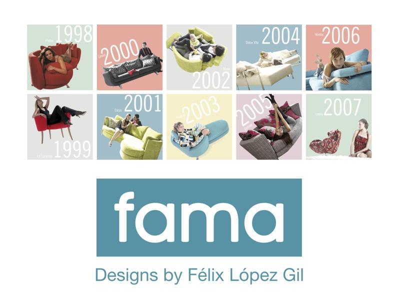 Historia de los diseños de Fama (1998-2008).
