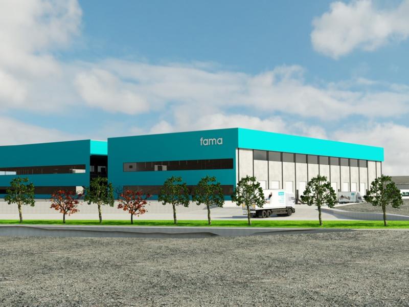 Fama Sofas comienza la construcción de su nueva factoría.
