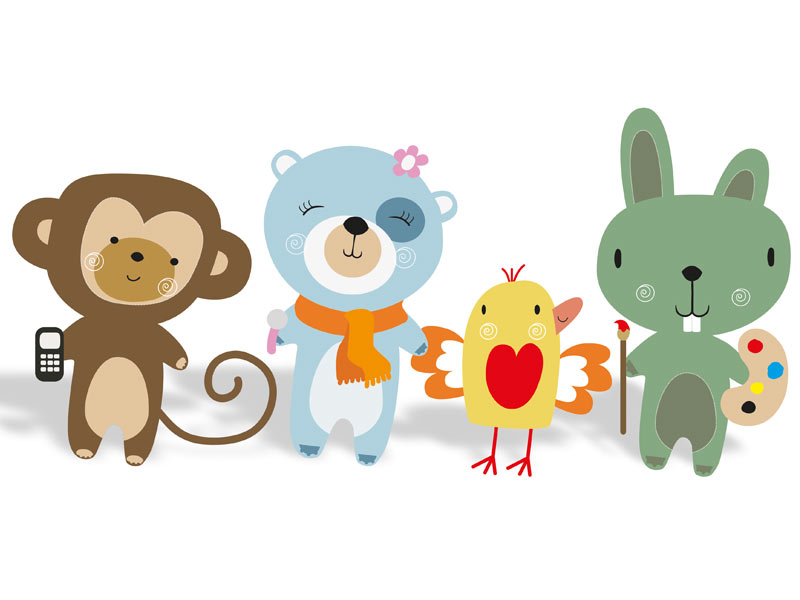The new mascots family from Fama