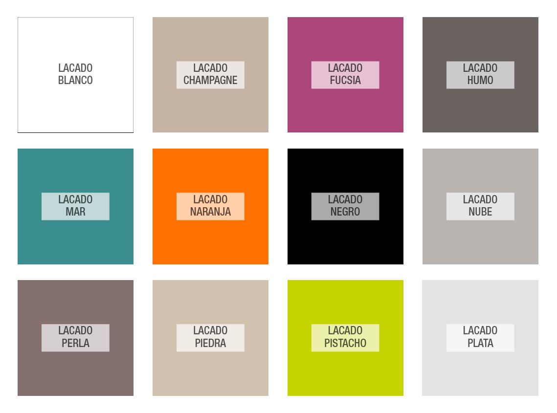 Colores tapa lacado