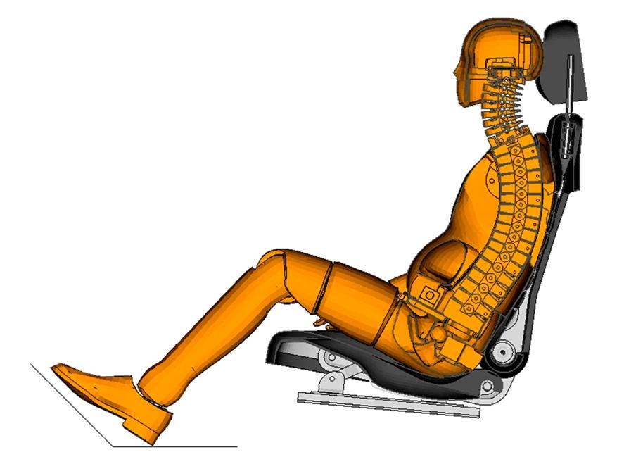 Development of an anatomical headrest for cars
