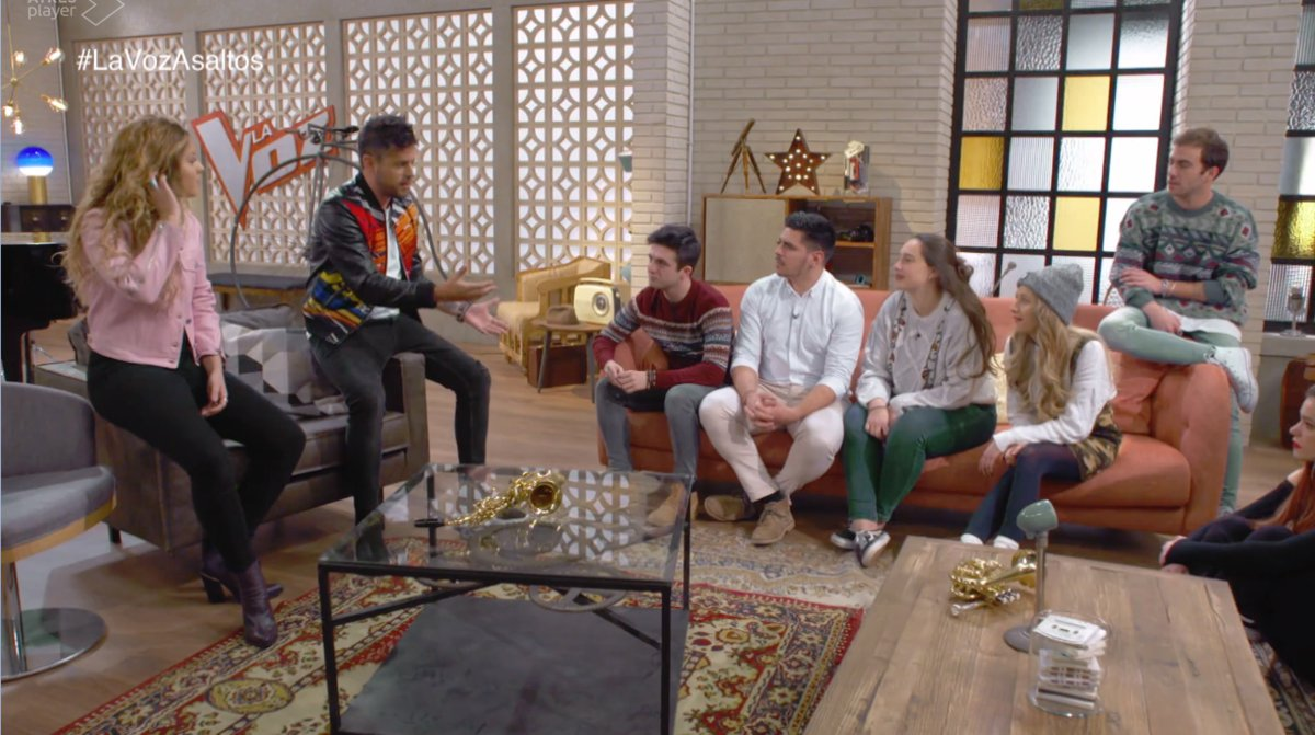 """Astoria sofa in """"The Voice Auditions"""""""