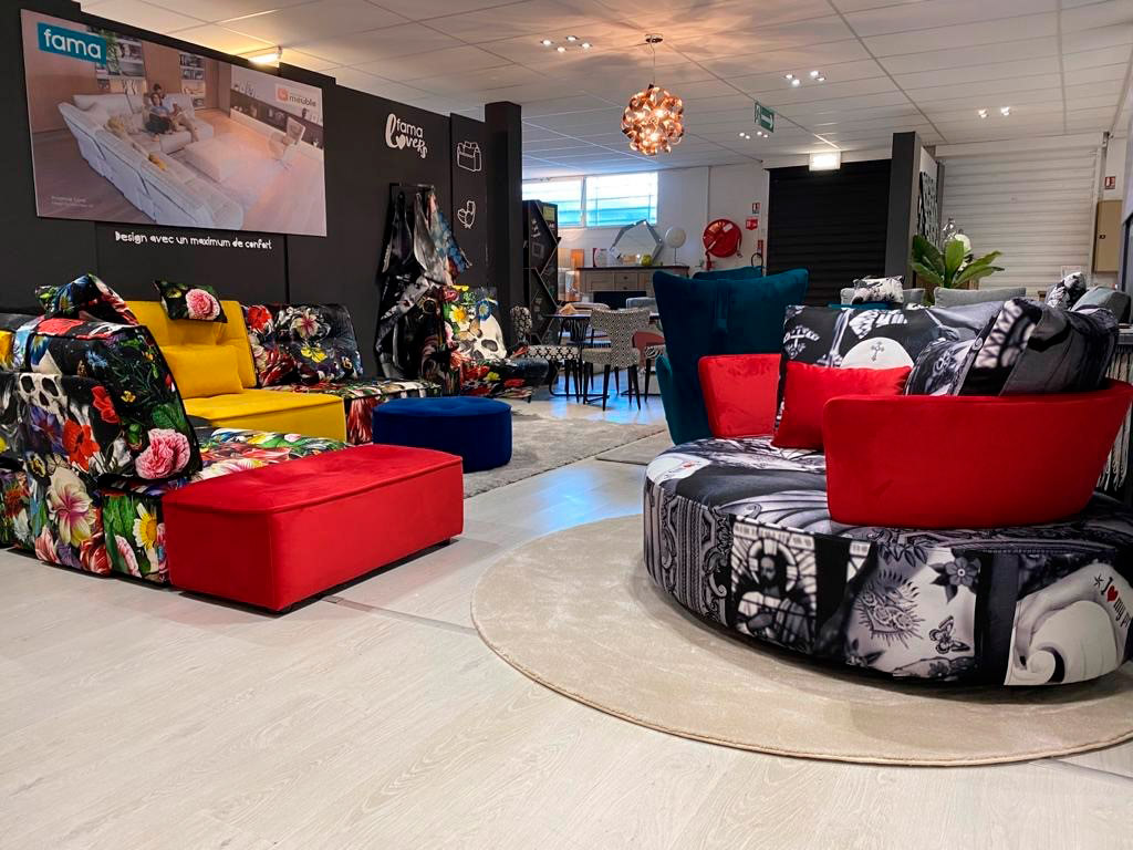 New Fama space with our distributor Monsieur Meuble Chaumont.