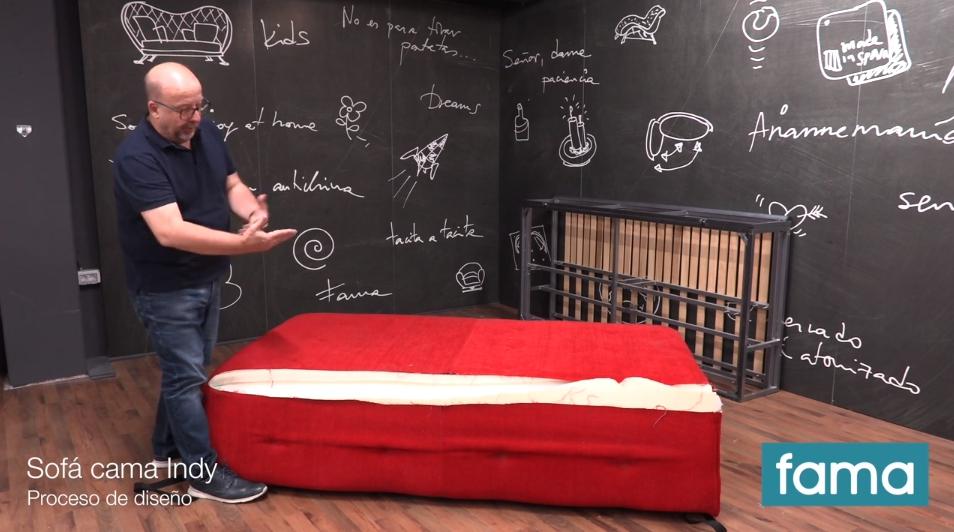 ¿Quieres saber cómo se diseñó el sofá cama Indy?