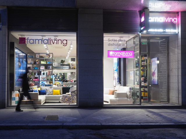 New Famaliving store in Madrid.
